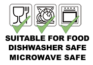 Microwave and dishwasher safe