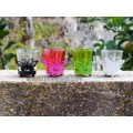 Glass Colors Butterfly Candle Holder