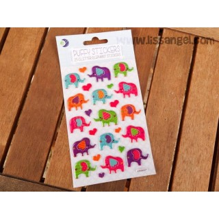 Elephant Stickers (Metallic with relief)