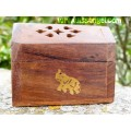 Incense cones Burner Box with elephant