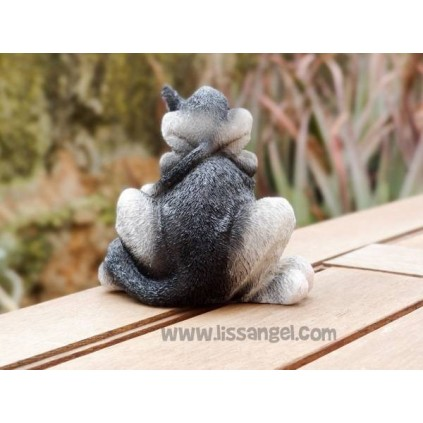 Resin figure Cat with Kitten