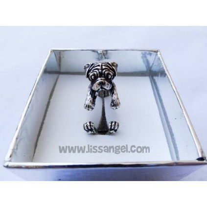 Carlino (Pug) dog Adjustable Ring