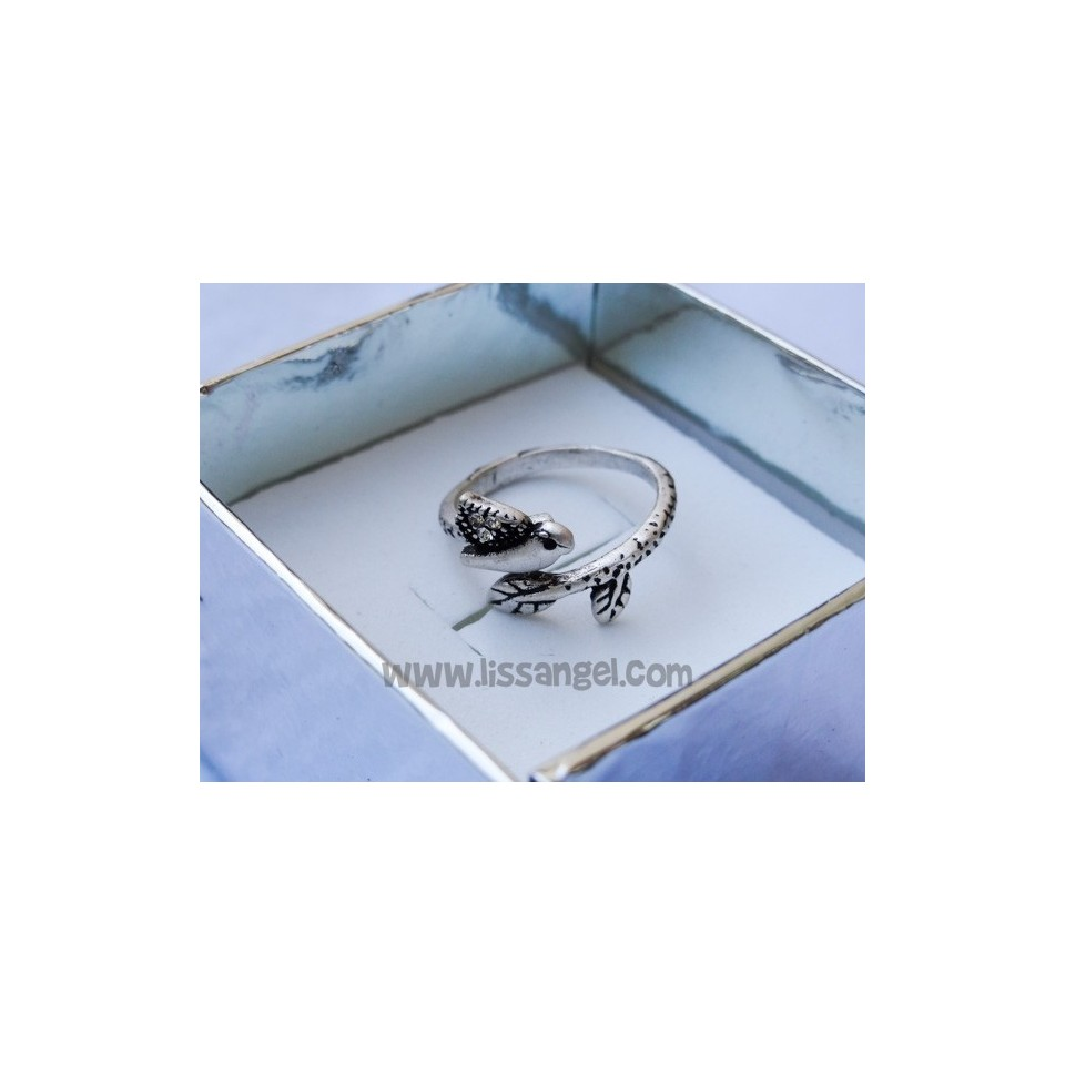 Bird on Branch Adjustable Ring