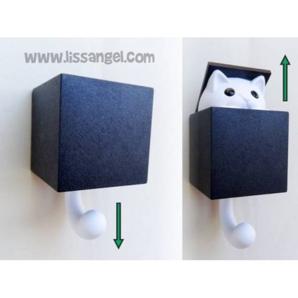 Cat Coat rack / Wall Hook - Kitt-a-boo by Qualy