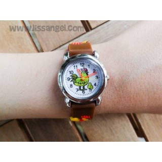Rooster with Chicken Child Wristwatch