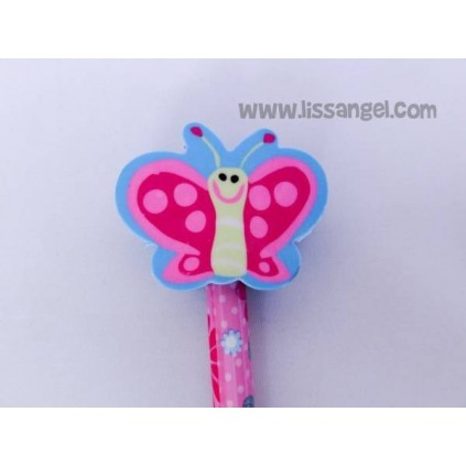 Garden Bugs Pencils with Erasers (Snail, Butterfly, Ladybug, Bee)