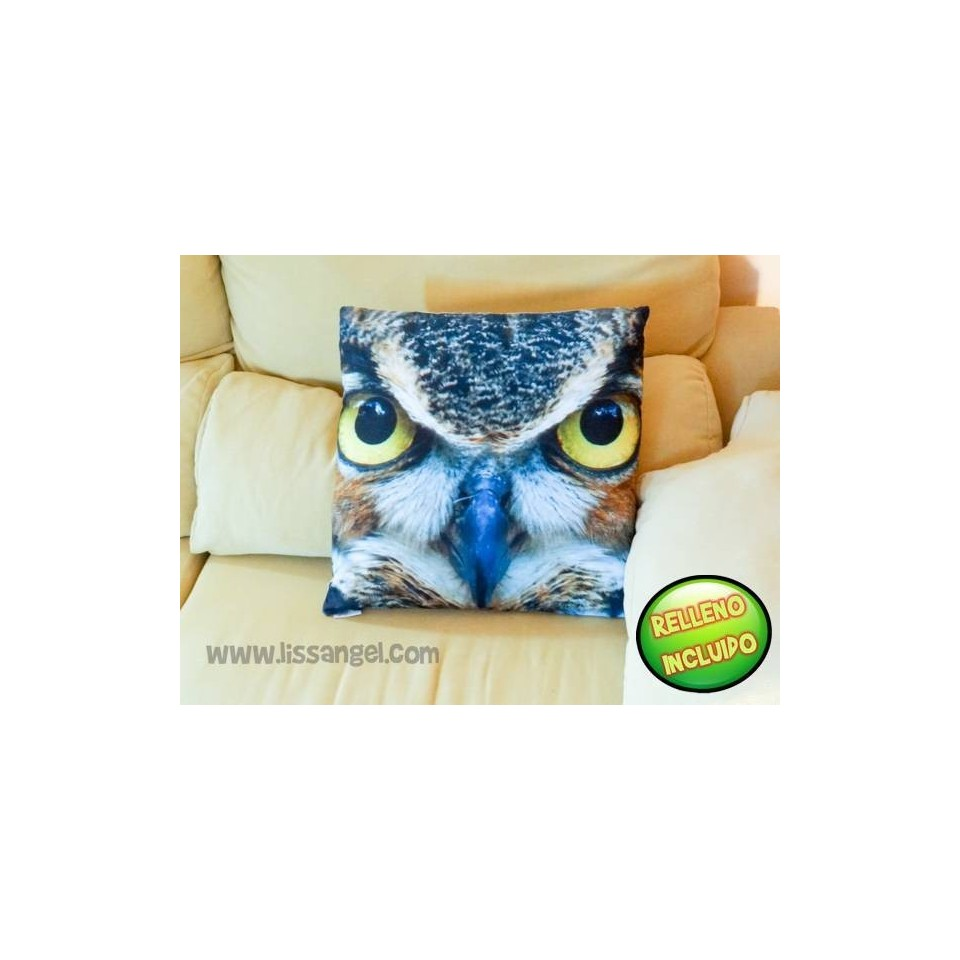 Owl Head Cushion 50x50 (Filling included)