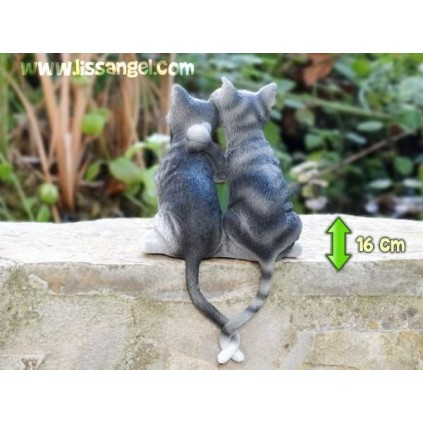 Resin Figure Cats in Love