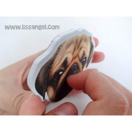 Pug Dog Nail File Emery Board