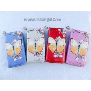Butterfly Wallet with Roses
