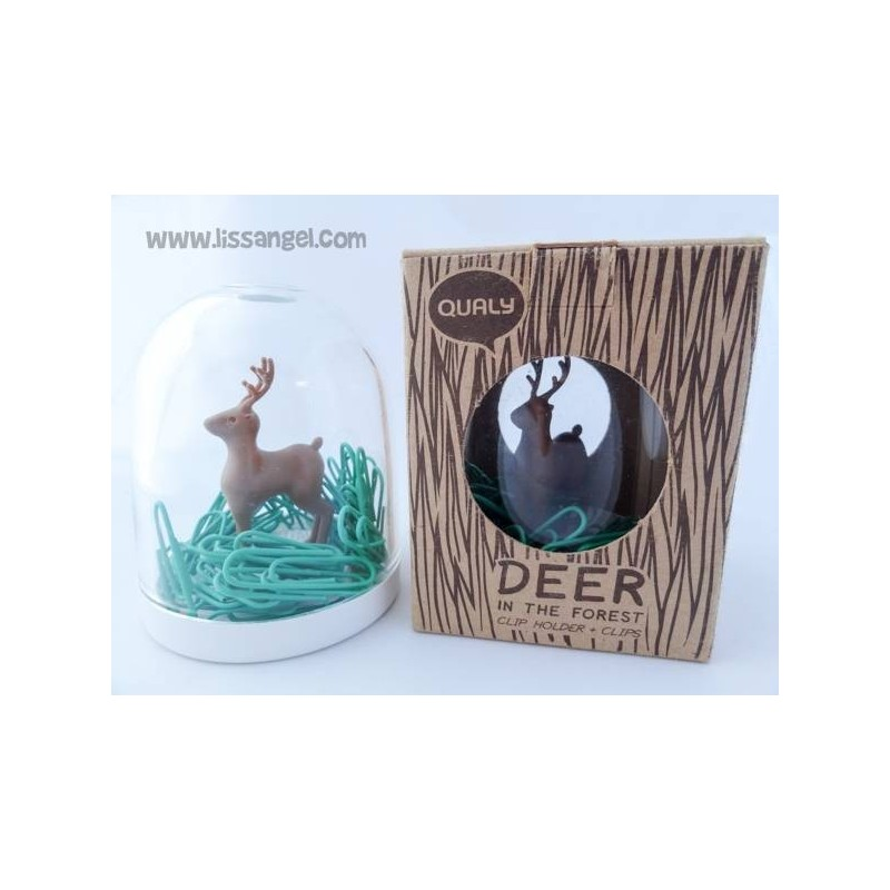 Deer in the Forest Clip Holder by Qualy