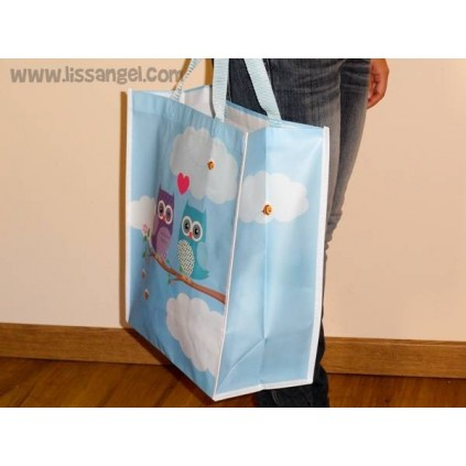 Owls in Love Shopping Tote Bag