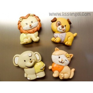 Smiling Animals Magnets (Unit)