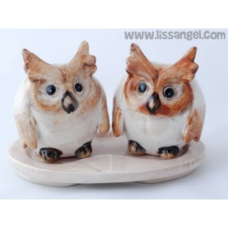 Owl Mates Rustic Salt and Pepper Shakers