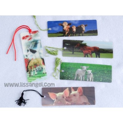 Farm Animals 3D Bookmarks