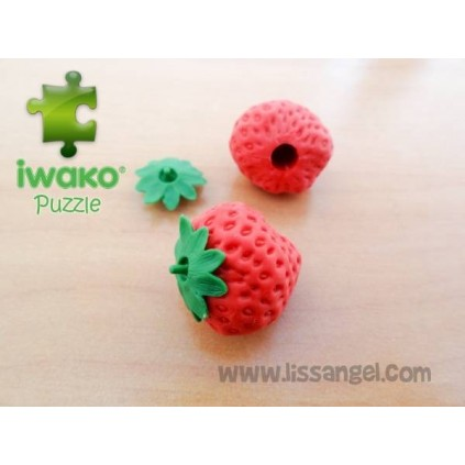 Puzzle IWAKO Eraser - Strawberry