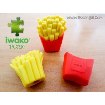 Puzzle IWAKO Eraser - French Fries Potatoes