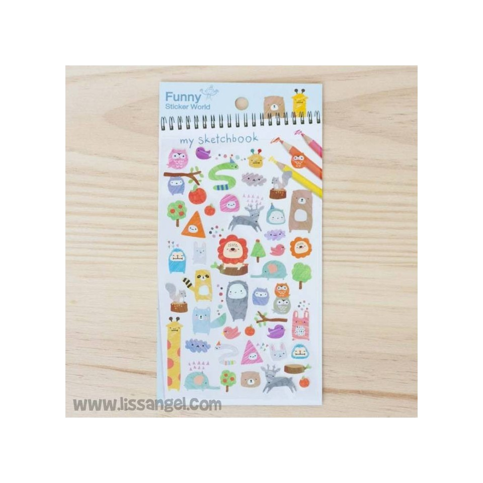 "Stickers ""My Sketchbook"" - Pegatinas de animales"
