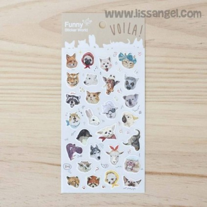 "Vintage Animal Stickers ""Voila!"""