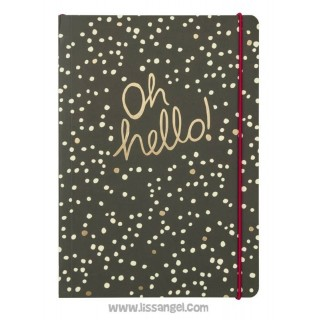 "Deluxe Notebook ""Oh hello!"""