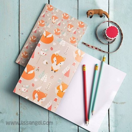 Foxes in the Forest Notebook