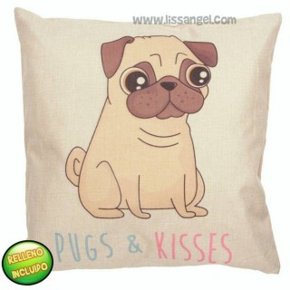 Pug Dog Cartoon Cushion