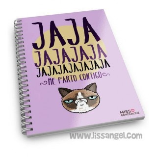 "Miss Borderlike Notebook (A5) ""Jajaja Me Parto Contigo"""