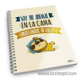 "Miss Borderlike Notebook ""Soy un animal en la cama"""
