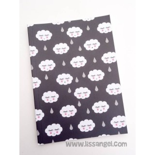 "Clouds Notebook (A5) ""A rainy day"""