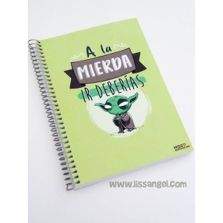 "Miss Borderlike Notebook (A5) ""Go to Hell you should"""