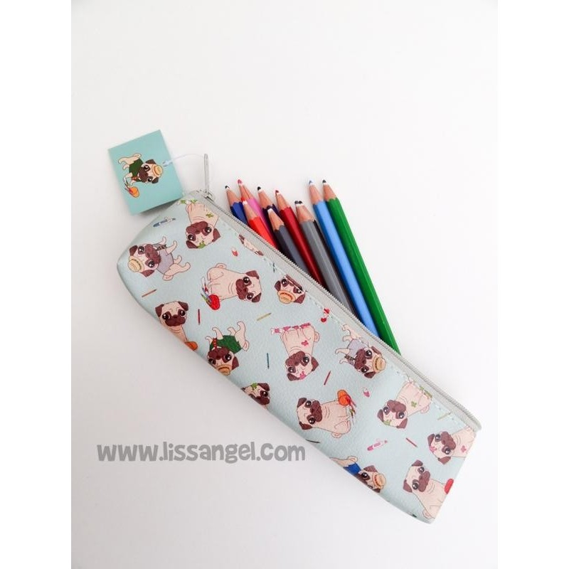 Pencil Case Pug Dogs