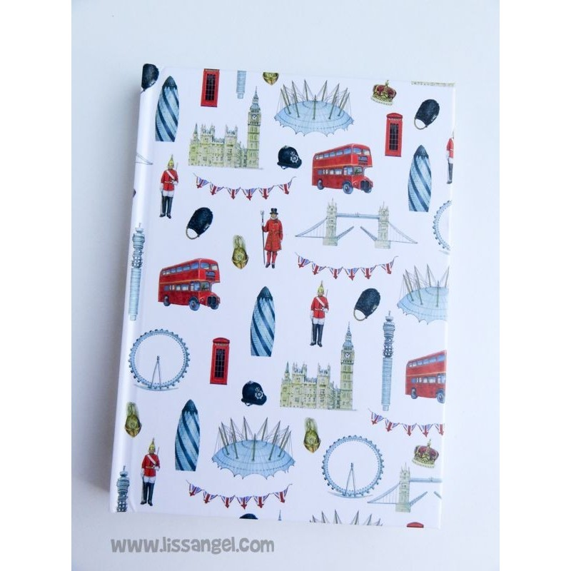 Cuaderno con decoración Londres
