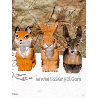 Stag, Rabbit and Fox Wood Pencil Sharpener