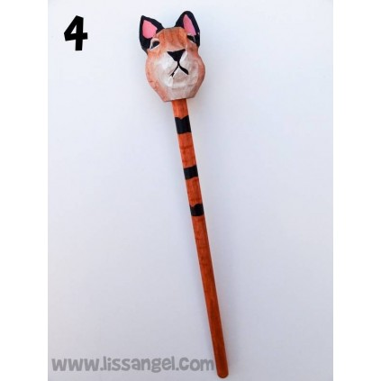 Wooden Pencils Cat's Head