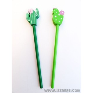 Cactus Pencils with Eraser