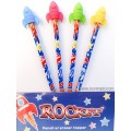 Rockets Pencils with Erasers
