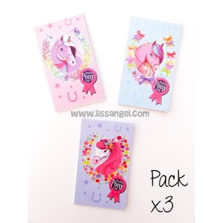 Pack 3 Units Pony Note Pads