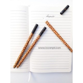 Leopard Fine Point Gel Pen 0.5