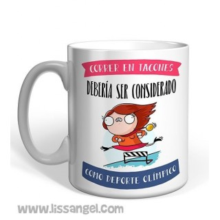 """Running in heels..."" - Miss Borderlike Mug"