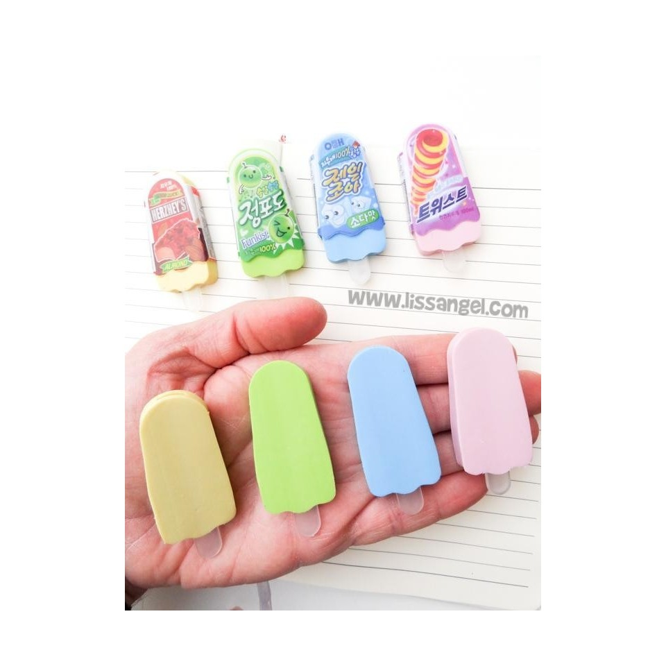 Oriental Ice Cream Erasers