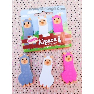 Cute Alpaca Eraser Set (3 Units)