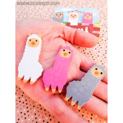 Pack 3 Gomas de Borrar Cute Alpaca
