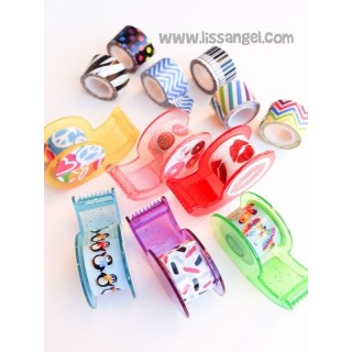 Pack 12 Mini Washi Tapes con Dispensadores