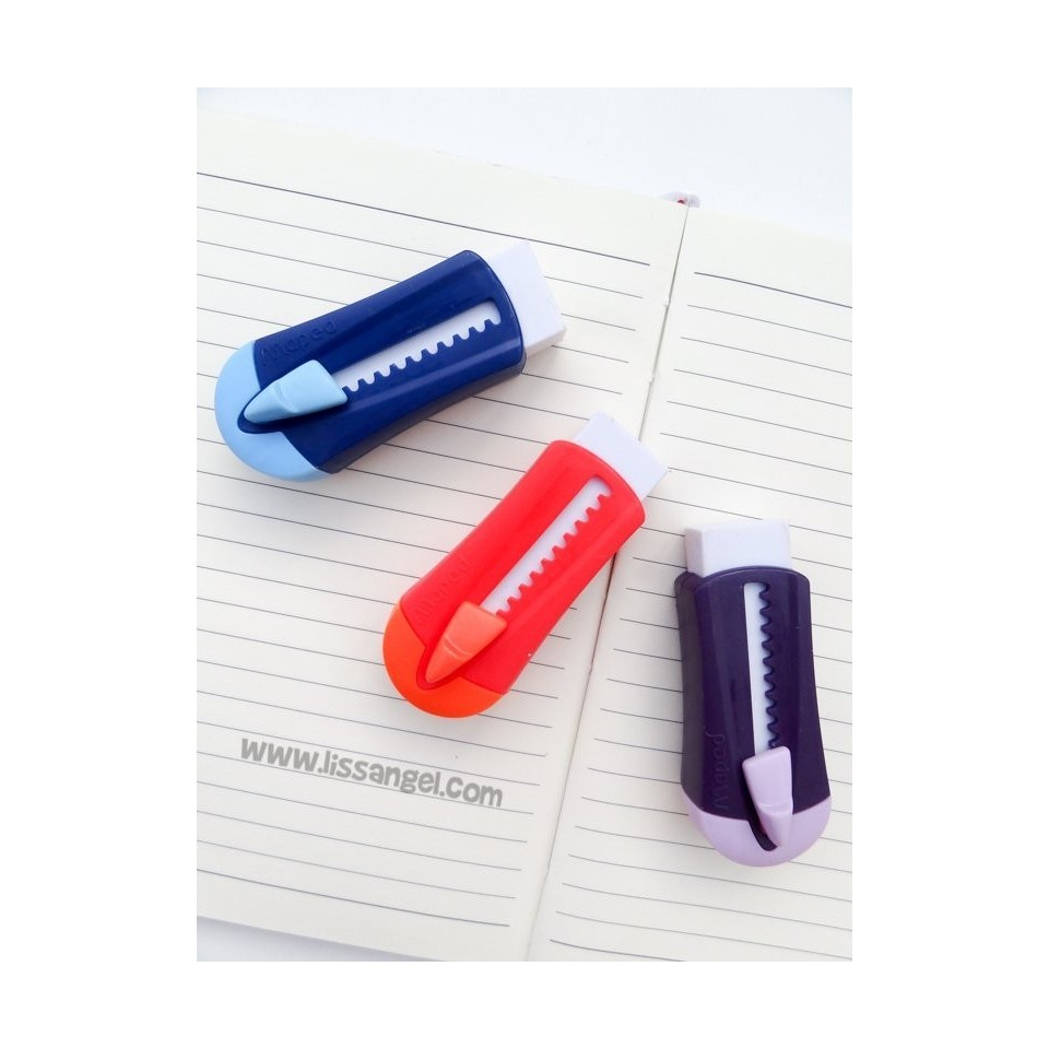 Eraser with Cutter Shape