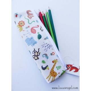 Zoo Animals Pencil Case