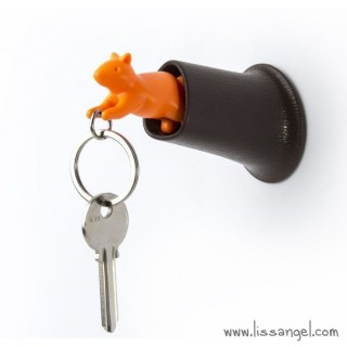 Key Holder with Squirrel Key Ring