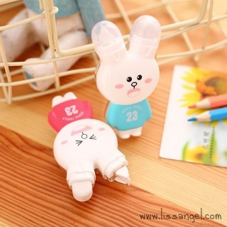Kawaii Rabbit Correction Tape with Eraser