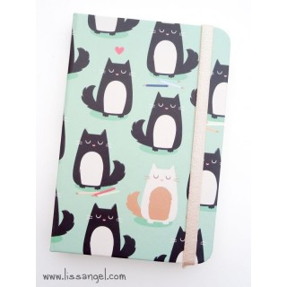 """Feline Fine"" Cats Premium Notebook (A6)"