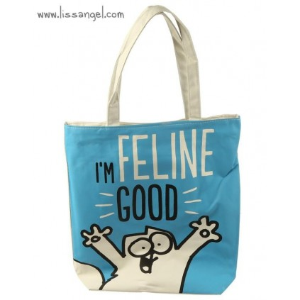 "Bolsa de algodón Simon's Cat ""I'm Feline Good"""