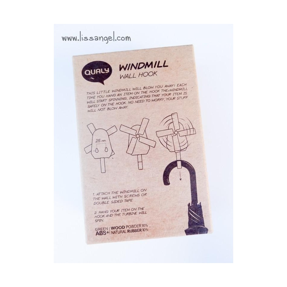 "Wall Hook / Hanger ""Qualy Windmill"""